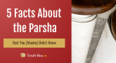 5 Facts About Parshat Tetzaveh that You (Maybe) Didn't Know