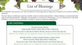 List of Blessings