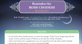 Reminders for Rosh Chodesh - Your Printable Practical Guide