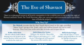 The Eve of Shavuot- Your Printable Guide