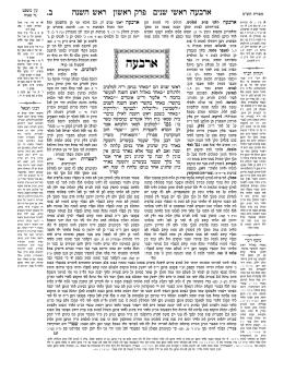 Talmud (Oral Torah) - Rosh Hashanah 2a - Rosh Hashanah 2b